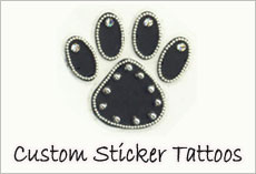 Custom Sticker Body Tattoos, Temporary Body Tattoo Manufacturers USA, Canada, UK, France, Europe